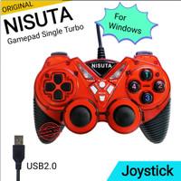 Gamepad Single Turbo / Joystick Stik Computer PC / Laptop Nisuta