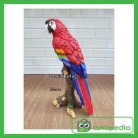 Jual Patung Pajangan Burung Parrot Bayan Miniatur Betet Nuri Macaw Merah Kab Tangerang Tonyonlineshop Tokopedia