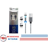 Kabel Data Micro Type C Lightning X-Cable Metal Magnetic 360 3in1 - WS