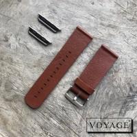 Strap apple watch iwo samsung fitbit versa 22mm tali jam tangan kulit