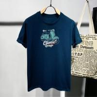 T-shirt Scooter Classic / Baju Kaos Distro Pria Wanita Cotton 30s