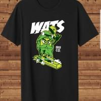T-shirt WATS SK8 / Baju Kaos Distro Pria Wanita Cotton 30s