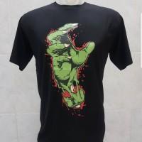 T-shirt Tangan Hulk / Baju Kaos Distro Pria Wanita Cotton 30s