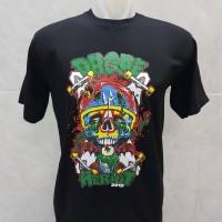 T-shirt Drope Heriot / Baju Kaos Distro Pria Wanita Cotton 30s