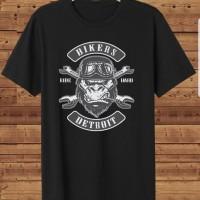 T-shirt Bikers Detroit / Baju Kaos Distro Pria Wanita Cotton 30s