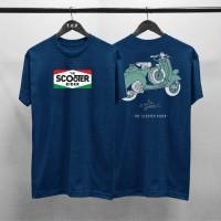 T-shirt Scooter Italy / Baju Kaos Distro Pria Wanita Cotton 30s