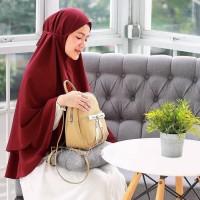 Jilbab Khimar Syari Hijab Instan Khimar Ceruti Sifon Oval Tania Murah