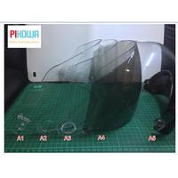 Kaca Helm Motor // Flat Visor Datar // Grosir ORI - Anti Embun Jernih