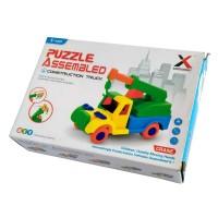 3D Puzzle Truk Konstruksi Assembled Construction Truck Mainan Anak