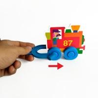 Rhino Speedy Wheely Mainan Edukasi Magnet Kendaraan Magnetic Toys