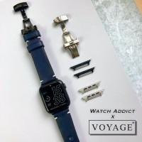 voyage strap apple watch iwo samsung butterfly clasp tali kulit asli