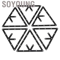 Soyoung 6pcs Triangle Billiard Rack Invisible Ball Holder