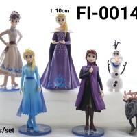 FI-0014 Mainan figurin figurine frozen elsa anna 2 model olaf set 6