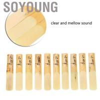 Soyoung 10Pcs Mouthpiece Saxophone Soprano Bahan Plastik