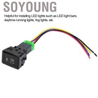 Soyoung 4 Poles 12V Harness Push Button Switch with LED Background