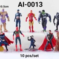 AI-0013 Mainan figurine Avenger baru thanos hulk spiderman thor