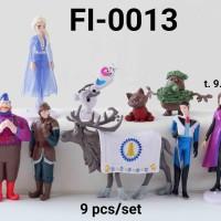 FI-0013 Mainan figurin figurine frozen baru elsa anna olaf set 9