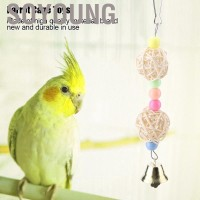 Soyoung 6 Pcs Pet Bird Parrot Cage Toy Parakeet Toys Perches Swing