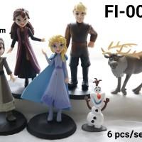 FI-0020 Mainan figurin figurine frozen elsa anna olaf sven set 6
