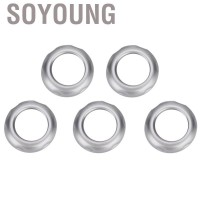 Soyoung Air Condition Knob Trim 5Pcs Chromed Volume and Covers