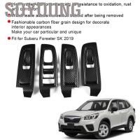 Soyoung 4Pcs Cover Tombol Jendela Interior Pintu Mobil untuk Subaru