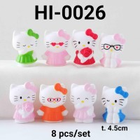HI-0026 Mainan figurine figurin cake topper hello kitty hiasan pensil