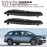 Soyoung 1 Pasang Lampu Sein LED DRL 2 Warna untuk Audi Q7 06-09