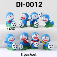DI-0012 Mainan figurine figurine cake topper Doraemon Sepak Bola