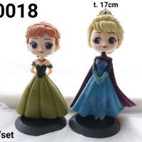 FI-0018 Mainan figurin figurine frozen elsa anna besar set 2