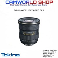 LENSA TOKINA AT-X 116 PRO DX-II 11-16mm F2.8 - FOR CANON & NIKON