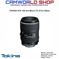 LENSA TOKINA AT-X 100MM MACRO F2.8 FOR NIKON
