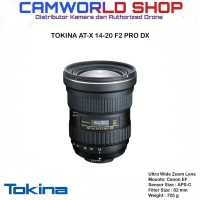 LENSA TOKINA AT-X 14-20 F2 PRO DX - FOR CANON & NIKON