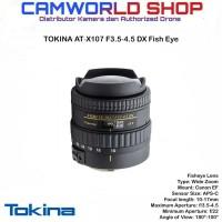 Tokina AT-X107 F3.5-4.5 DX Fish Eye for Canon Nikon - Hitam