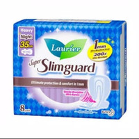 Laurier super slimguard 35cm ultra tipis 1mm night wing isi 8