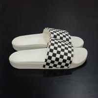 Vans Slide On Checkerboard White