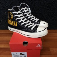 Sepatu sneakers Converse 70's NIRVANA BLACK WHITE