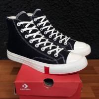 Sepatu sneakers Converse hi CT TWISTED MULTIPACTH LOGO BLACK WHITE