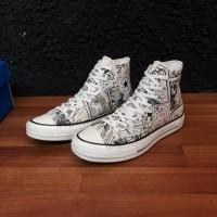 Sepatu sneakers Converse 70's hi DORAEMON WHITE GARNET EGRET