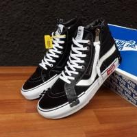 Sepatu sneakers Vans Sk8 hi cut & Paste black true white