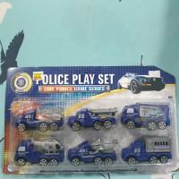 mainan mobil polisi police car 1 set mobilan kecil