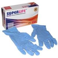Superlife Bluple Nitrile Examination Gloves - Sarung Tangan Nitrile