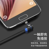 Kabel Charger Magnetic USB Type C Elbow L Shape 2 Meter