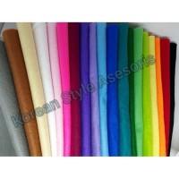 Kain flanel paket 19 warna ukuran besar 50cm x 45cm