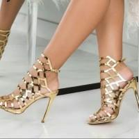 Gold Fashion Heels