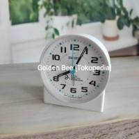 Jam Meja/ Weker Seiko QHE907W - Quiet Sweep & LumiBrite