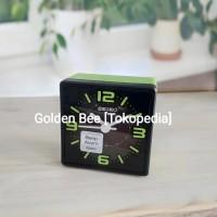 Jam Meja/ Weker/ Travel Alarm Clock Seiko QHE091M - Quiet Sweep