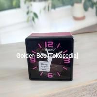 Jam Meja/ Weker/ Travel Alarm Clock Seiko QHE091P - Quiet Sweep