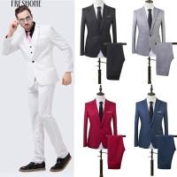 Jual Freshone Men Slim Fit Bisnis Leisure Satu Tombol Formal Dua Potong Jakarta Pusat Losta Fashion Tokopedia