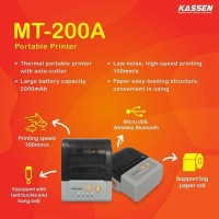 Printer Kasir Mobile Thermal AutoCutter 58MM Bluetooth KASSEN MT-200A