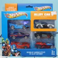 mobil hotwheel 6 pcs Alloy avengers series mobil mainan